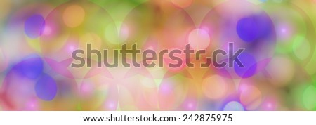 Colored circles panoramic background layer for celebration cover photo or celebration greetings - stock photo