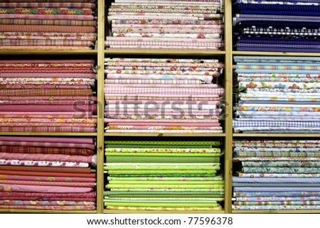 Colored cloth - stock photo