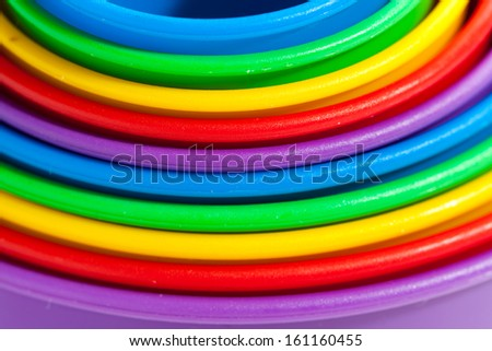 colored concentric shapes. child's play. - stock photo