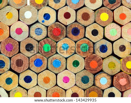 colored crayons back texture - stock photo