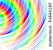 colored curved lines - stock photo