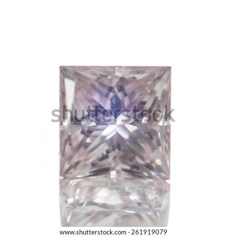 Colored Diamond isolated on white background - stock photo