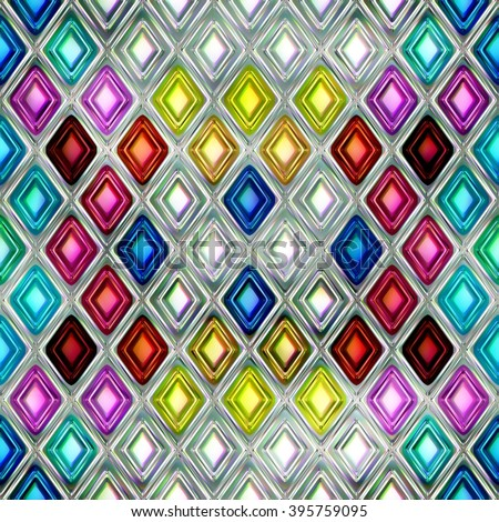 colored diamonds seamless Christmas background bright shiny abstract