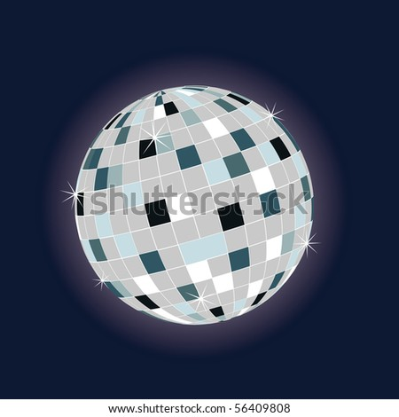 colored disco ball for the dance floor