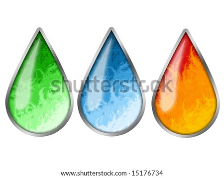 Colored Drops - stock photo
