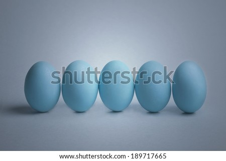 colored eggs. set of easter eggs