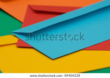 Colored envelopes - stock photo
