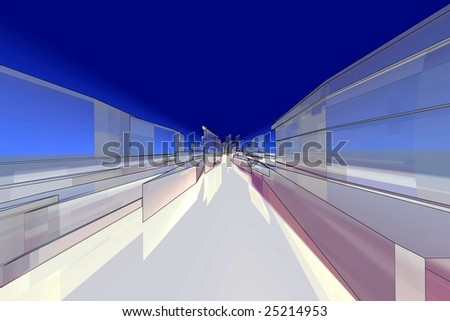 colored extreme skyline digital - stock photo
