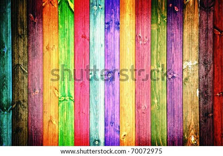 colored fence - stock photo
