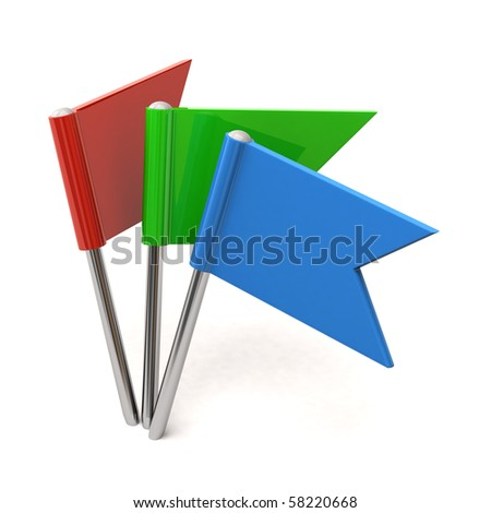 Colored flag pins - stock photo