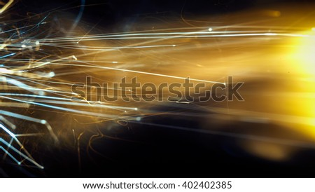 Colored flint sparks - stock photo