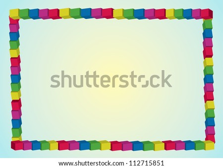 Colored frame - stock photo