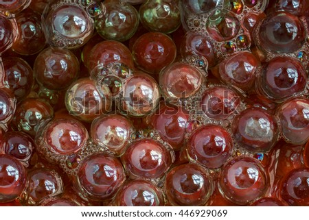 Colored Glass Marble Balls Abstract Background - stock photo