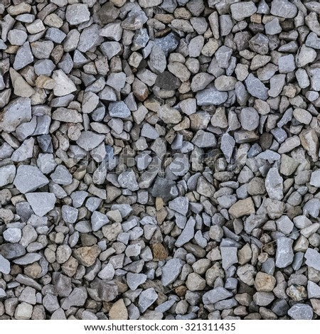 Colored gravel. High-resolution seamless texture. stones on the  - stock photo