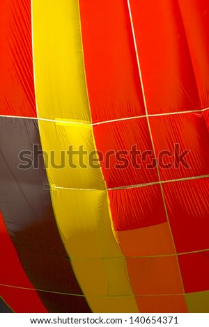 colored hot air balloon - stock photo