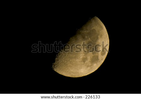 Colored image of the half moon.