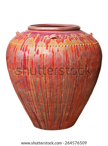 Colored jars. - stock photo