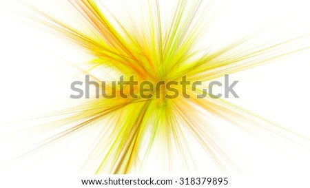 Colored light rays. The refraction of light. A bright flash. Abstract image. Fractal Wallpaper on your desktop. Digital artwork for creative graphic design. Light background. - stock photo