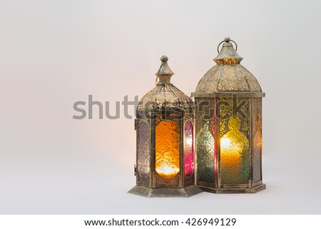 Colored Lightened Lanterns
