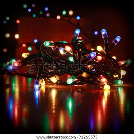 Colored lights - stock photo