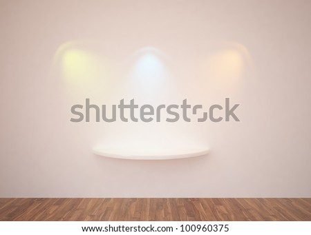 colored lights on a wall