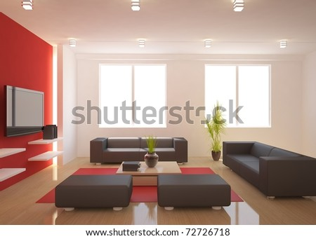 colored modern interior