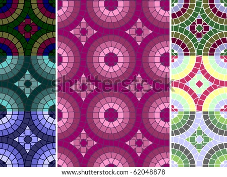 Colored mosaic ornament. - stock photo