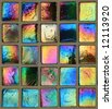 Colored mosaic squares - stock photo