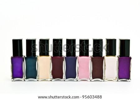 Colored Nail Polish. - stock photo