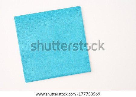 colored napkin - stock photo