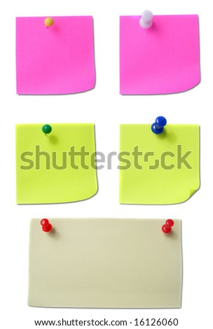 Colored note papers - stock photo