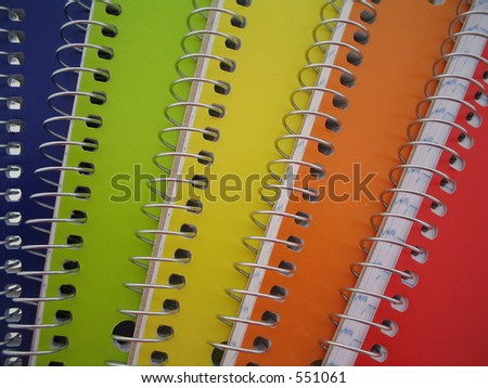 Colored notebooks. - stock photo