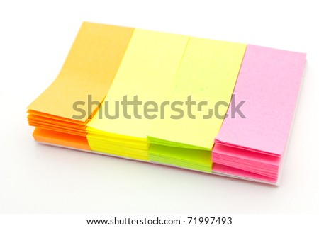 Colored notes paper - stock photo