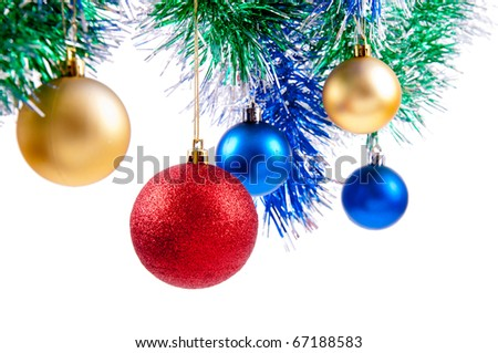 colored objects for decorating the Christmas and New Year