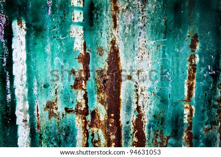 colored old wood blending with old texture - stock photo