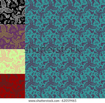 Colored paisley ornament. - stock photo
