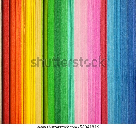 Colored paper, cross section - stock photo