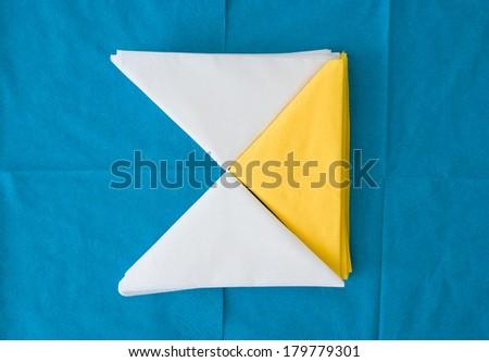 colored paper napkins - stock photo