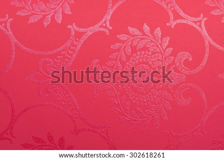Colored paper with texture and printed pattern - stock photo