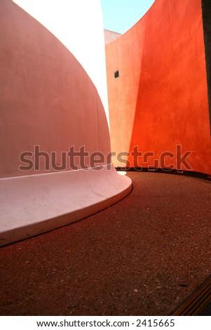 colored path - stock photo
