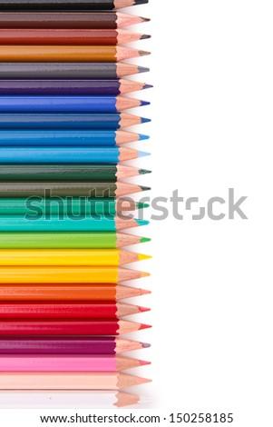 colored pencil - stock photo