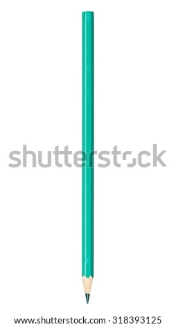 colored pencil isolated on a white background - stock photo