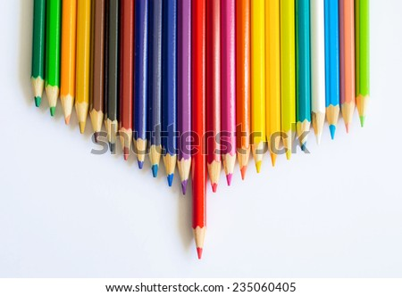 colored pencils featured - stock photo