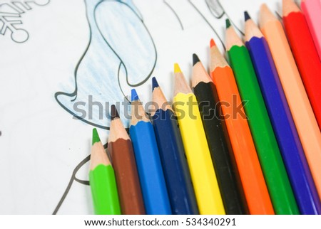 Colored pencils for drawing and children's drawing