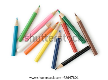Colored Pencils for School or Professional Use - stock photo