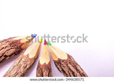 colored pencils wooden