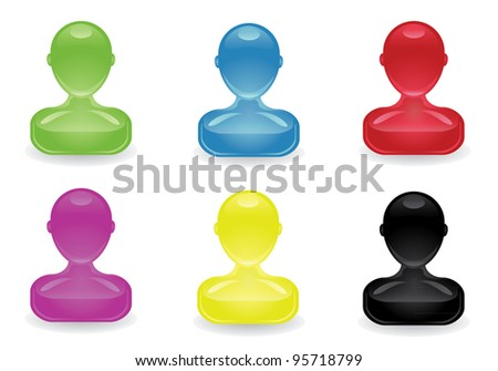 Colored people icon. - stock photo