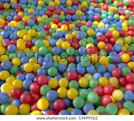 colored plastic balls background