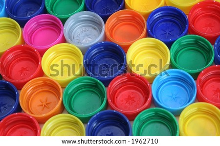 Colored plastic tops