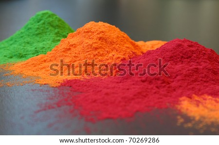 colored powder coating - stock photo